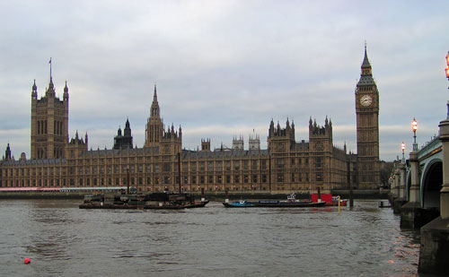 Palace of Westminster and Big Ben in London